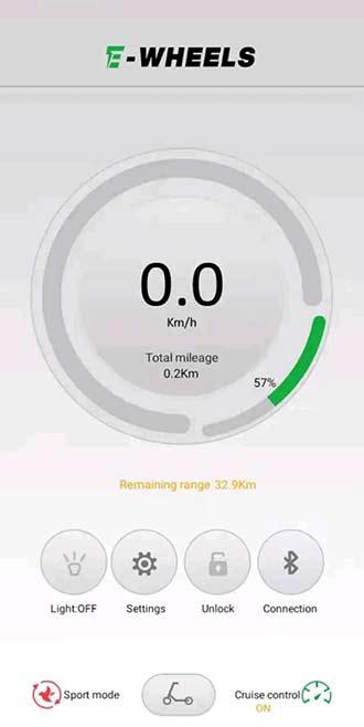 E-Wheels App Huvudsidan
